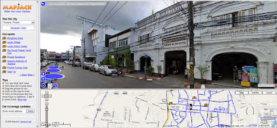 MapJack screenshot in Old Phuket Town