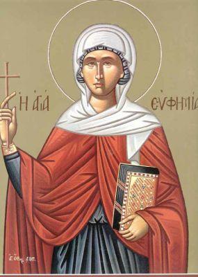 Σκέψεις και προβληματισμοί: Αγία Ευφημία .... η προστάτιδα του ...