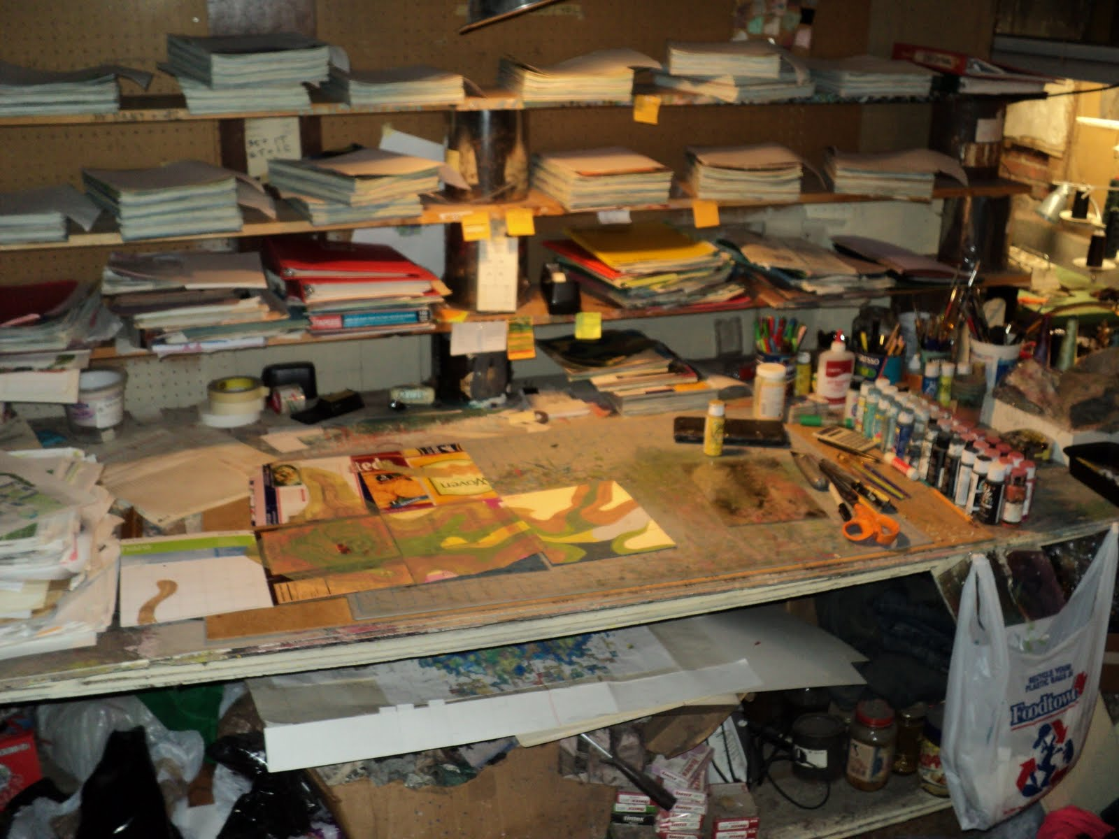 ever wondered what my studio looks like here it is housed in my basement in cold spring new york the area is relatively tiny
