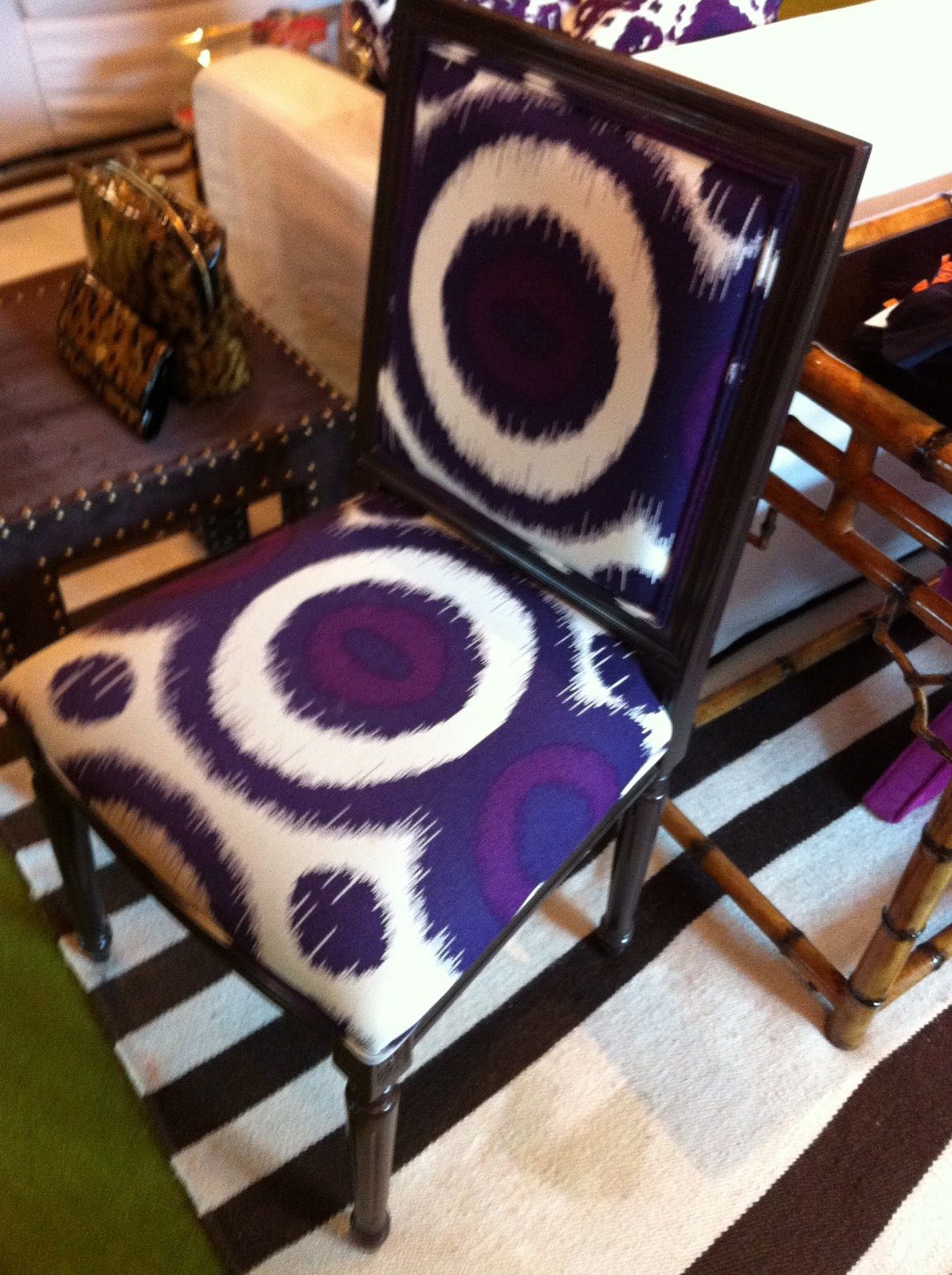 Purple Upholstered Dining Chairs Foam Rubber Chair Cushions The Perfect Patterned Louis Design