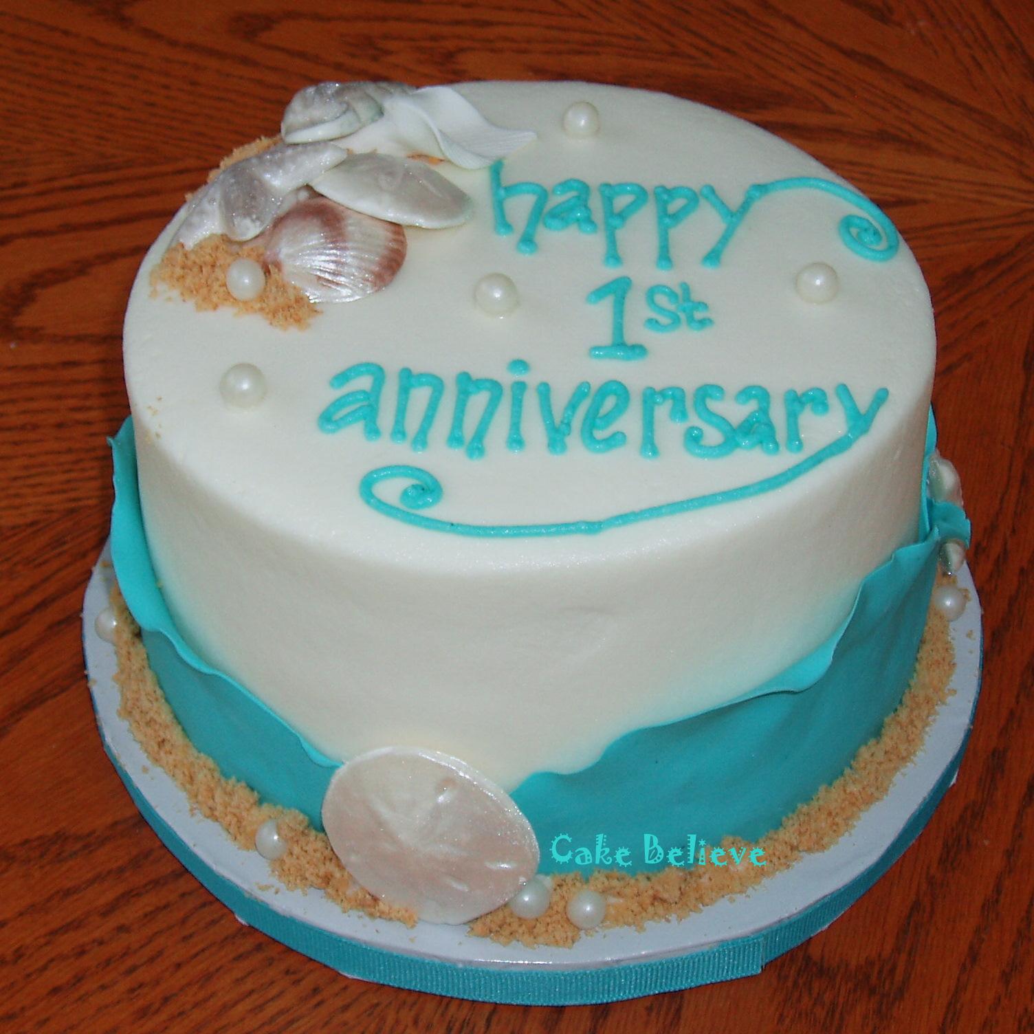 St Year Wedding Anniversary Cake