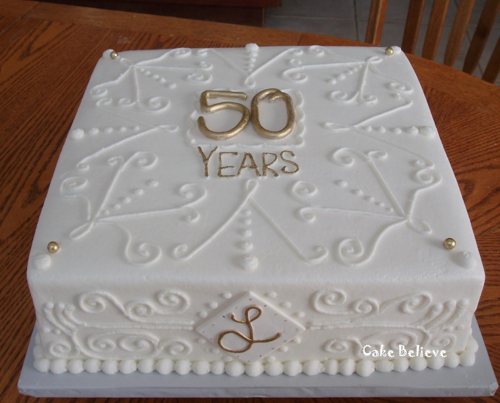 Cake Believe 50th Wedding Anniversary