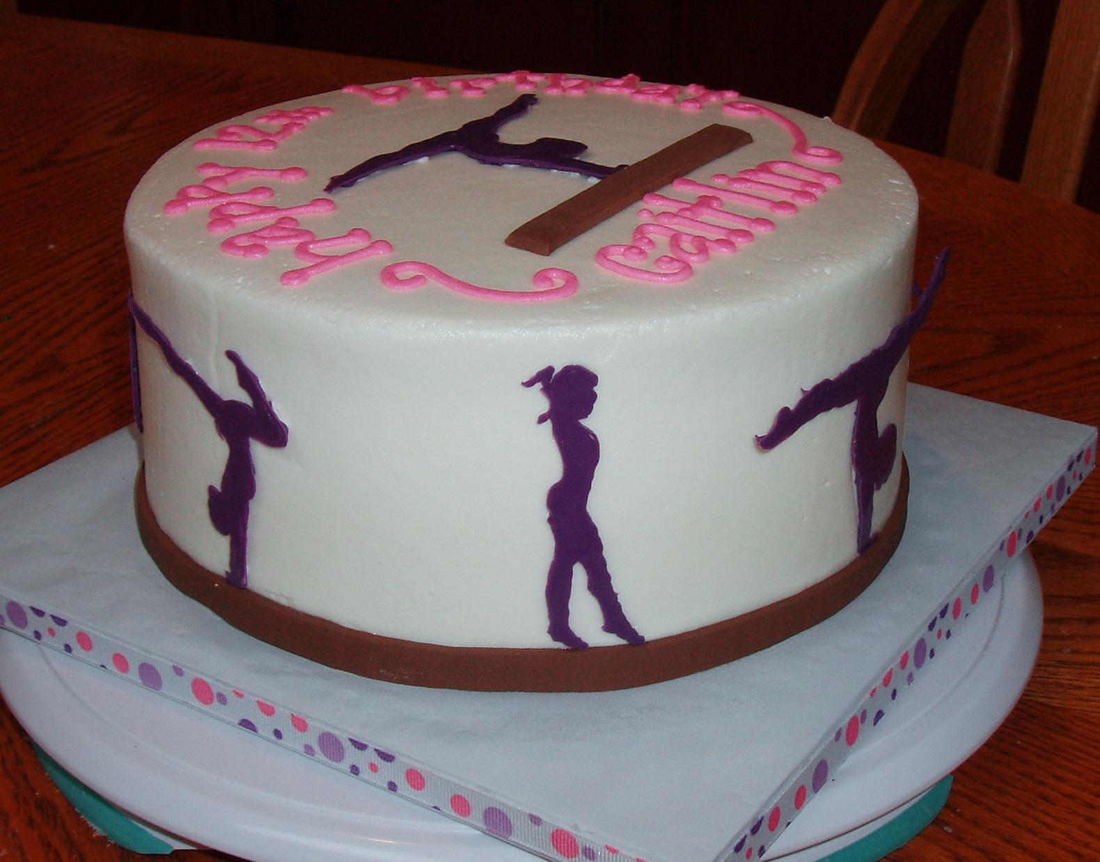 Images Of Gymnastics Birthday Cakes