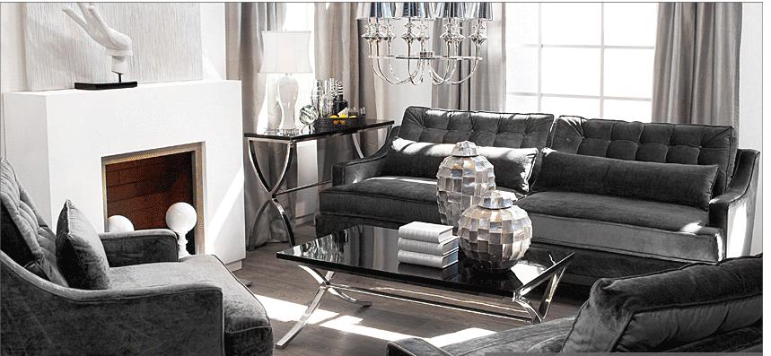 Alicia Hanson Design Blog Glamour Living Room