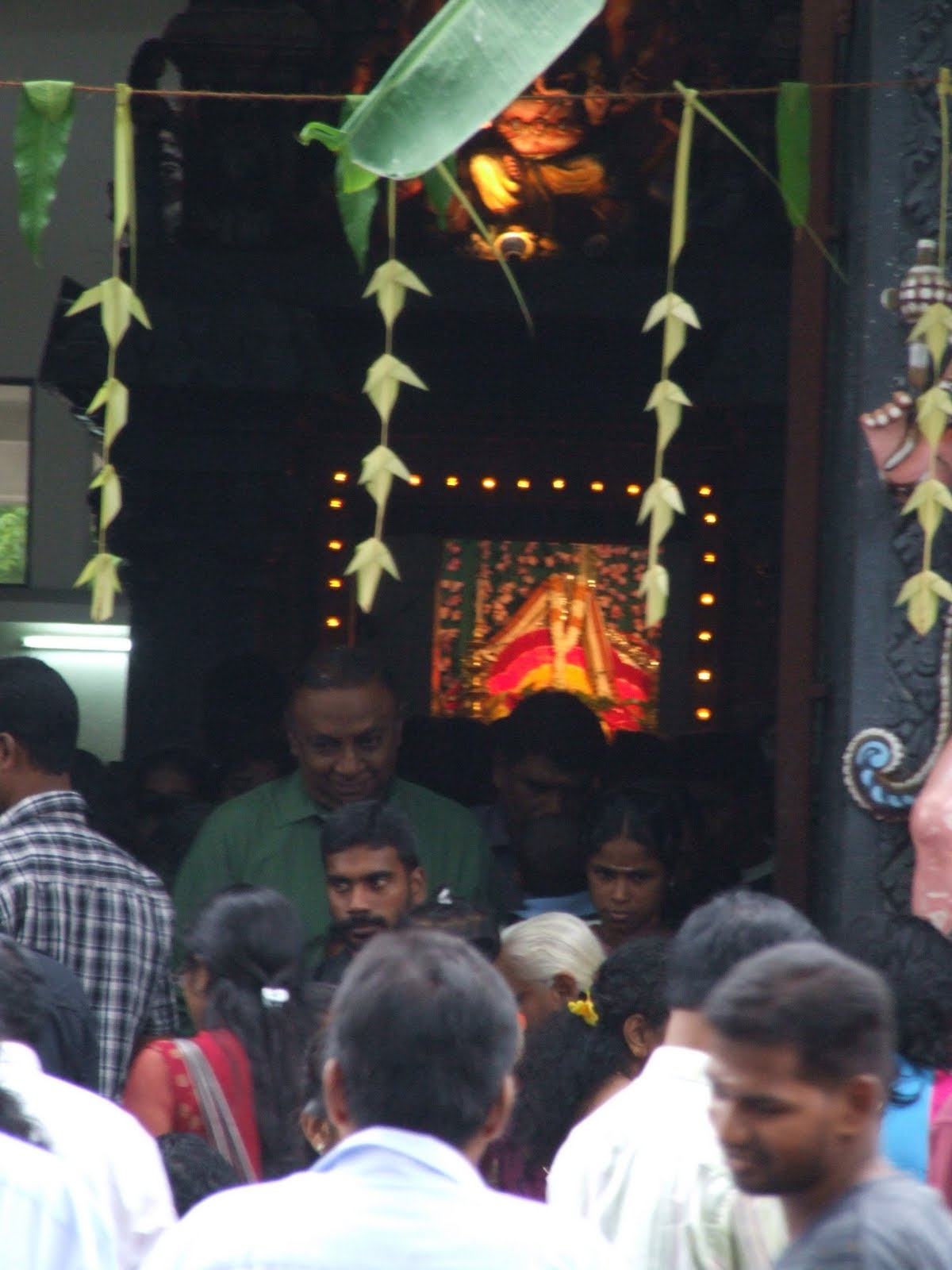 Devotees Thronged The Temples Amidst A Heavy Downpour With Lightning