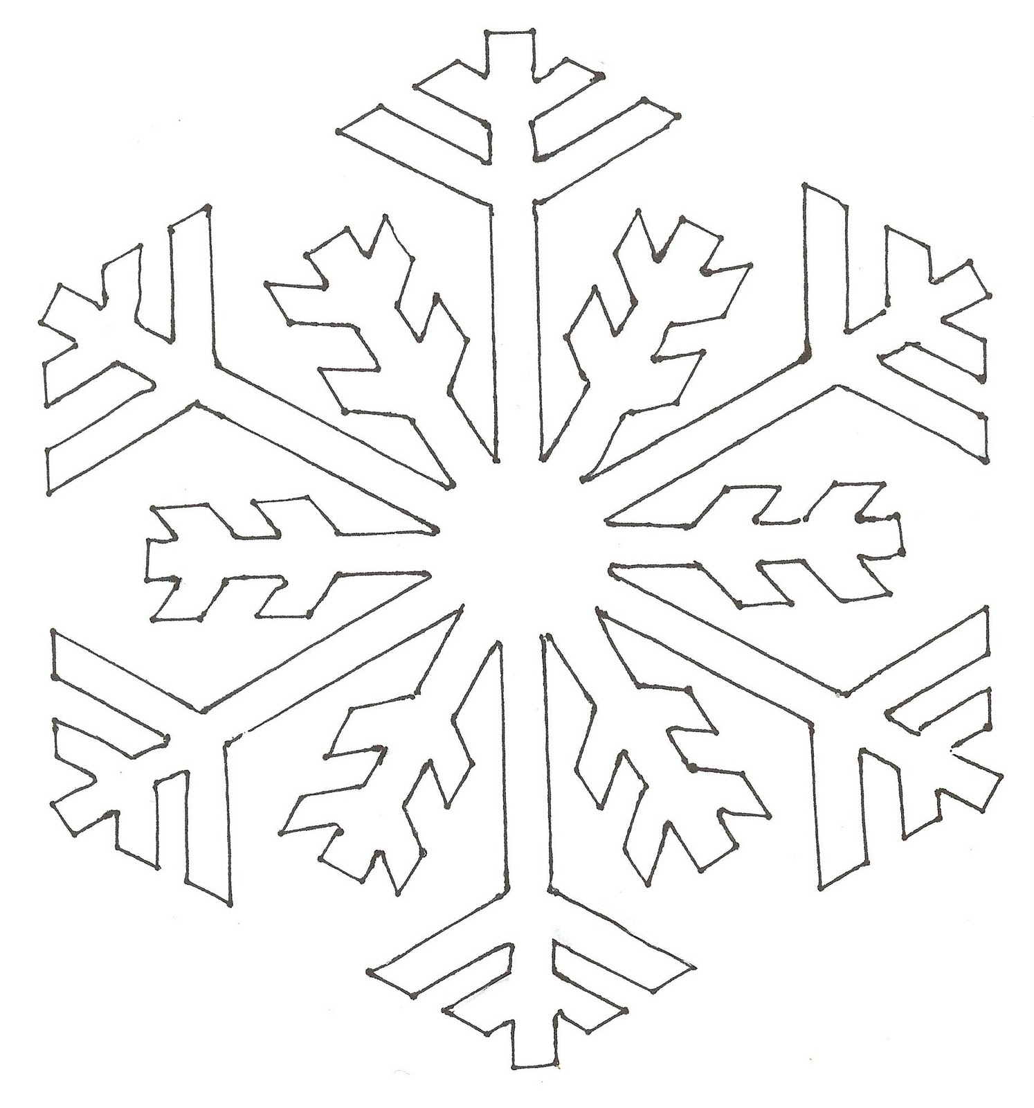 Traceable Snowflake Shapes