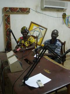 Binta Diao and colleague Djabé Bathily in the studio in Kolda.