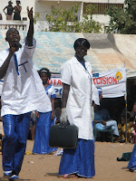 local youth perform a skit which discussed the harmful consequences of FGC