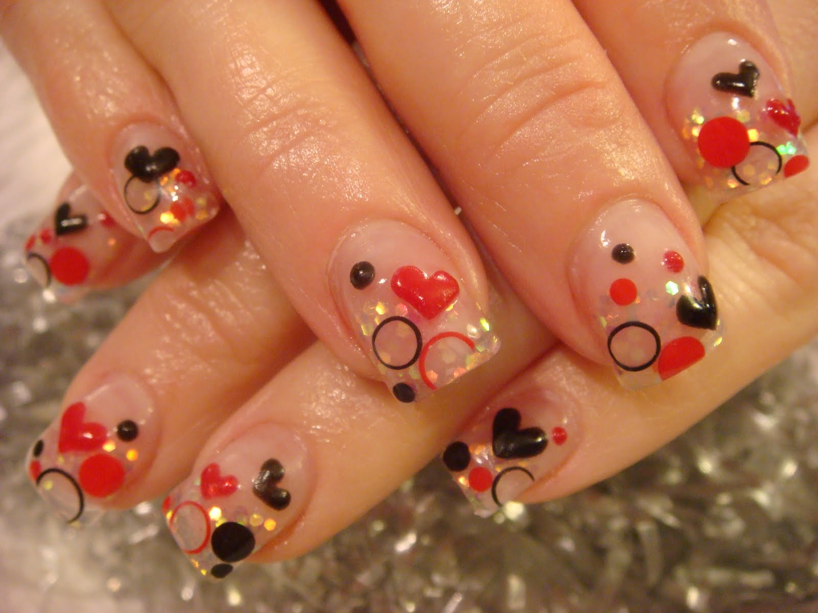 Cool Nail Art Express Queen Of Hearts