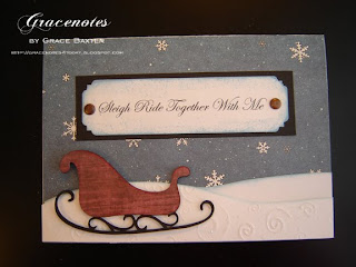 sleighride together with me, card design by Grace Baxter