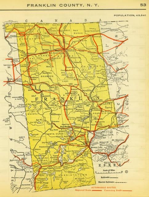 Franklin County Ny Map The Franklin County (NY) Historian: 1919 Franklin County Map