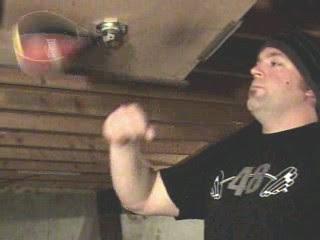 Speed bag training fist hits bag.