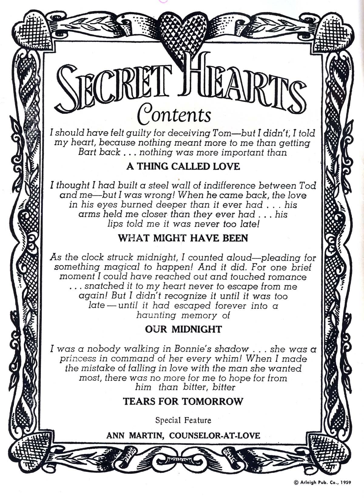 Read online Secret Hearts comic -  Issue #60 - 2