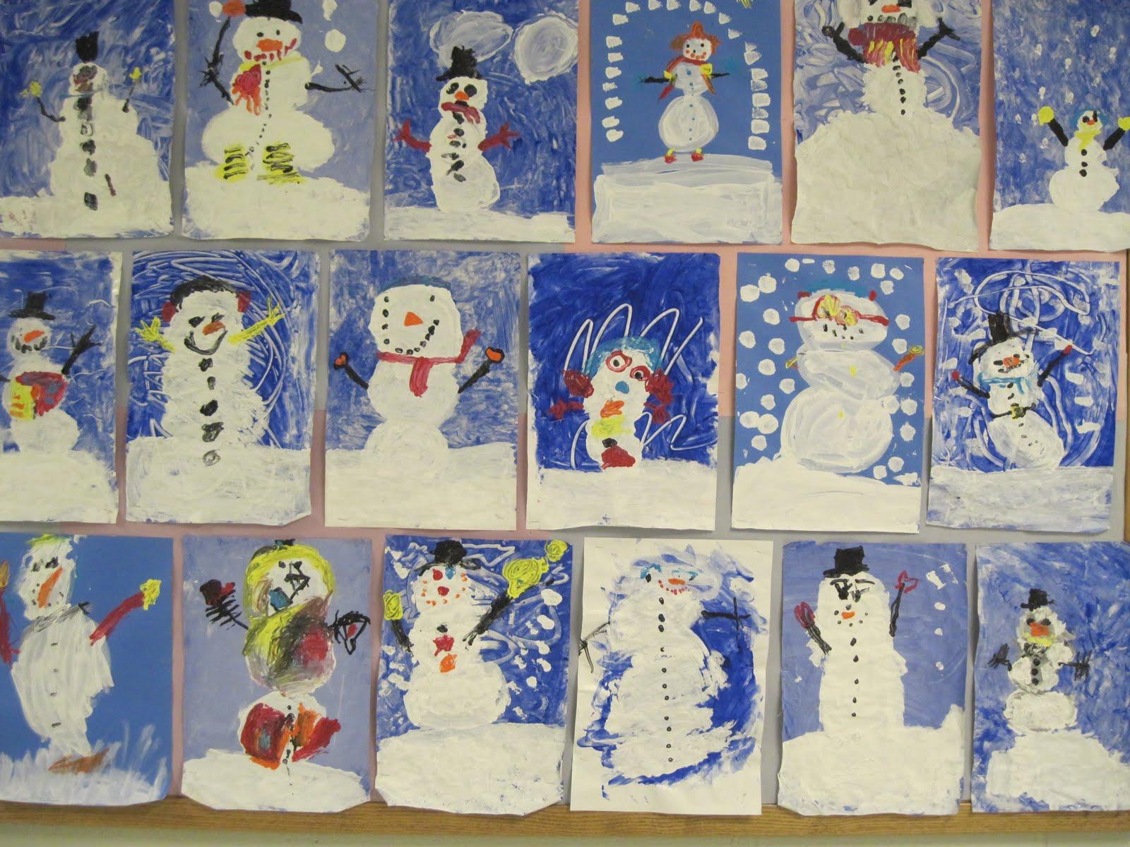 There S A Dragon In My Art Room Kindergarten Snowmen