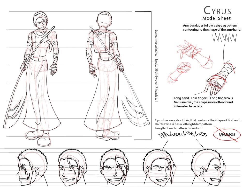 Cyrus' Animation Model Sheet ~ Fate Saga