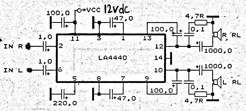 7 watt audio power amplifier circuit schematic auto electricalla4440 power amplifier circuit