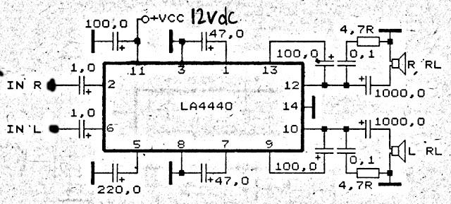 19 watt amplifier using la 4440