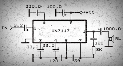 Power Amplifier Circuit with IC AN7117