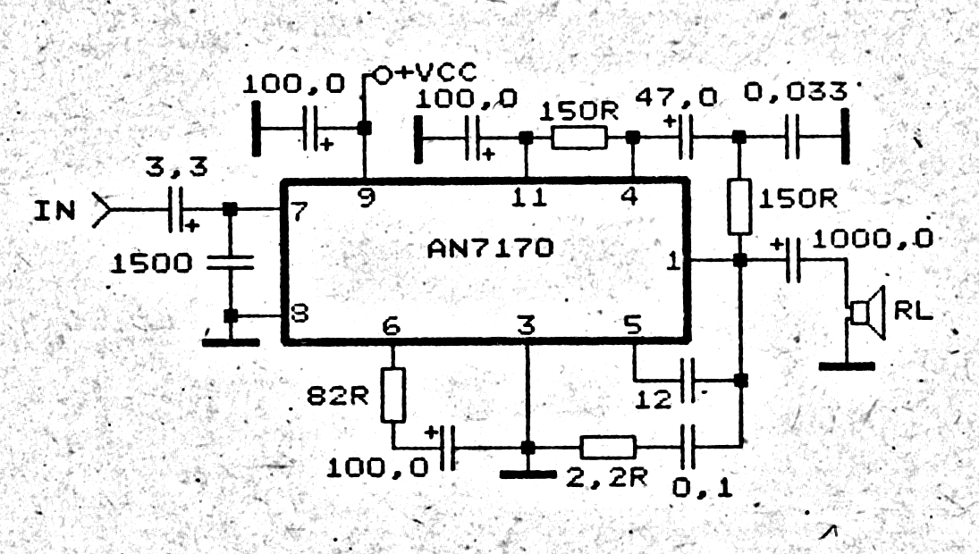 power amplifier circuit 60 w mono