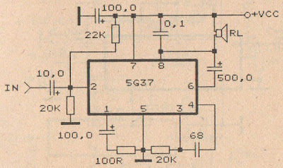 IC 5G37 Power amplifier circuit diagram