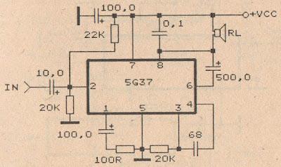 IC 5G37 Power amplifier circuit diagram
