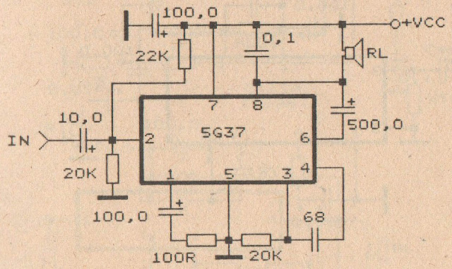 Very Low Power Outpur Amplifier