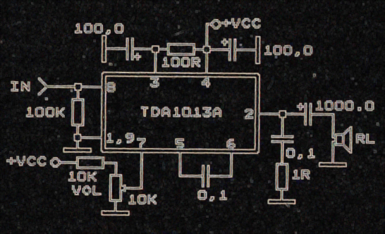 schematic power amplifier tda1013 electronic circuit. Black Bedroom Furniture Sets. Home Design Ideas