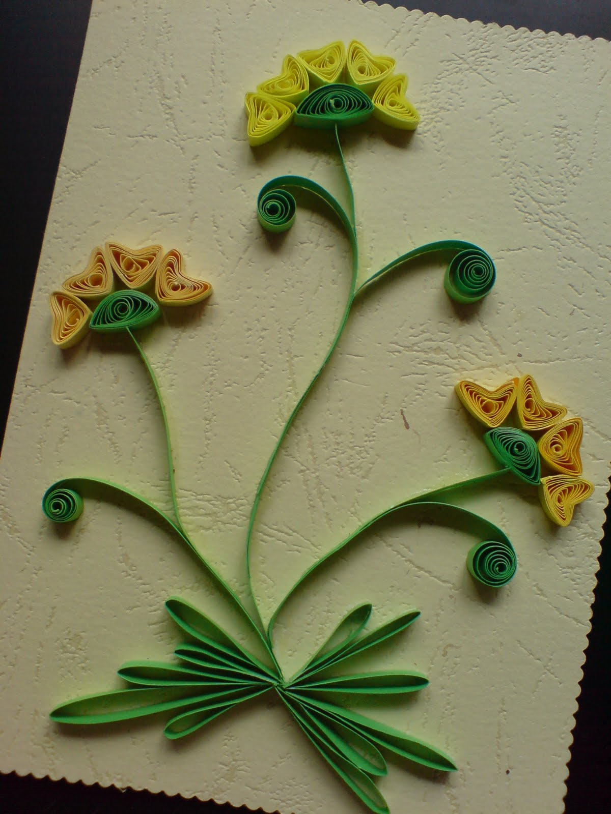 chami crafts  handmade greeting cards quilled design