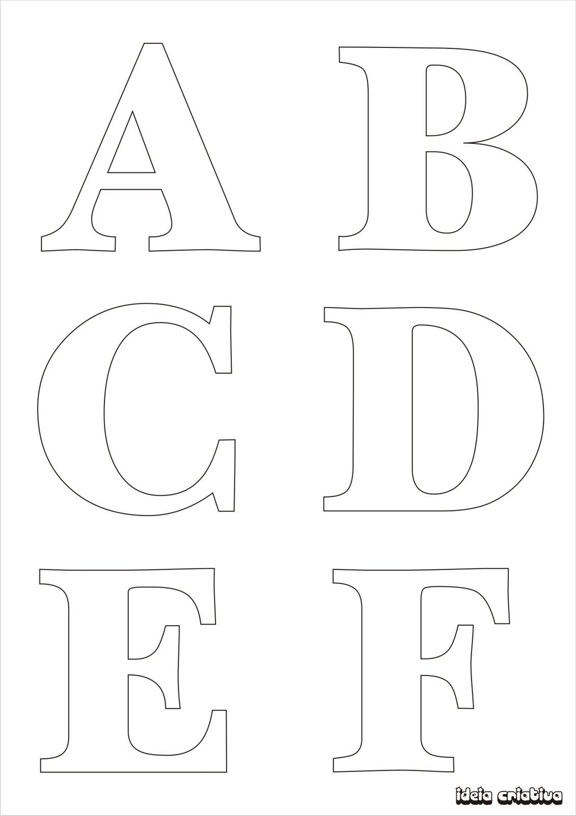 Molde De Letras Para Imprimir Alfabeto Completo Fonte Vazada Ideia Criativa Atividades Pedagogicas