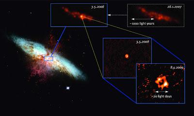 Supernova blast in M82