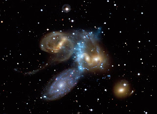 Stephan's Quintet imaged by Chandra and the Canada-France-Hawaii Telescope