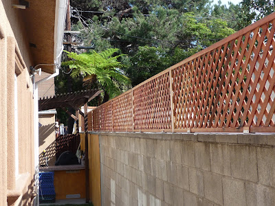 Thb Construction Privacy Trellis Added To Cinder Block Wall