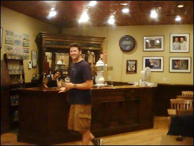 The decorative tap and tasting room at the Samuel Adam Brewery in Boston