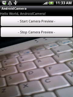 Using camera surfaceview android