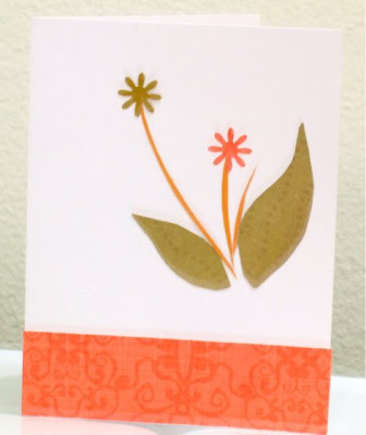 flower and leaf card