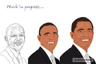 illustration de barack obama