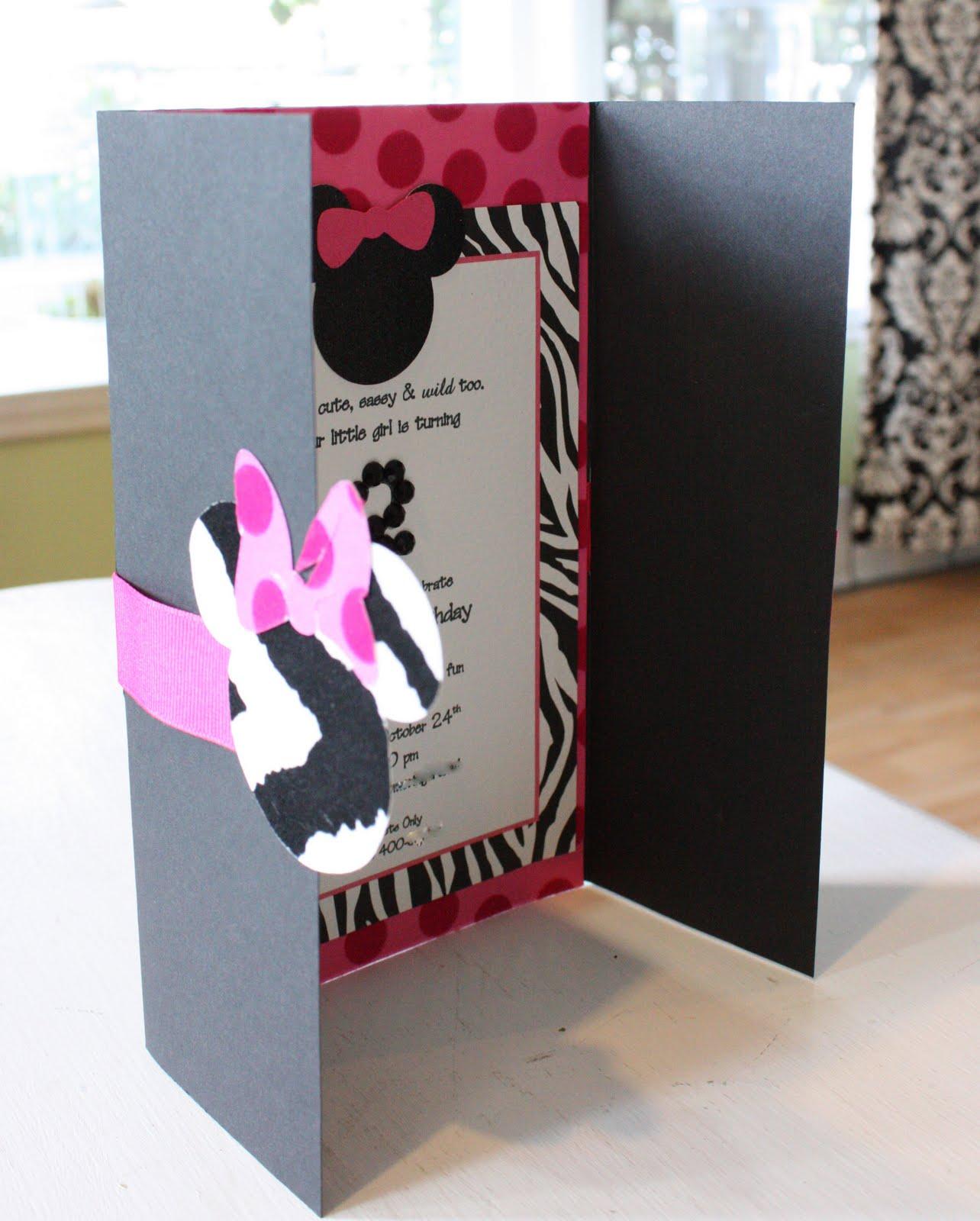 Kates Minnie Mouse Invitation