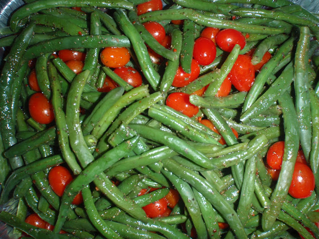 green beans and tomatoes
