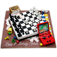 Chess and Game Boy Cake