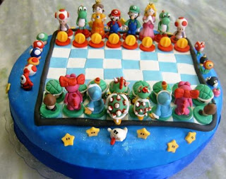 The Super Mario Bros. Chess Cake