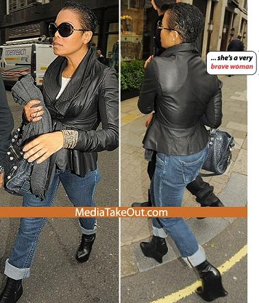 Janet Jackson Chopped Natural Hair