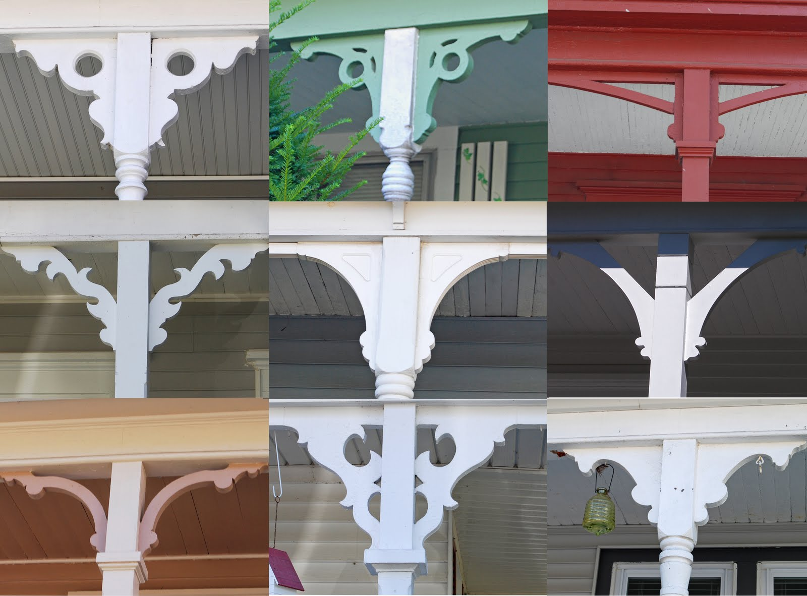 Variety In Front Porch Brackets Is The Spice Of Life