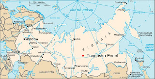 Mapa Tunguska
