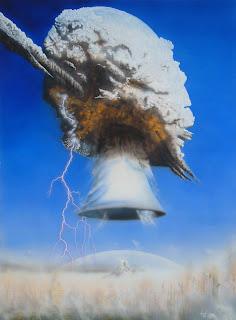 Nuble de hongo explosión nuclear