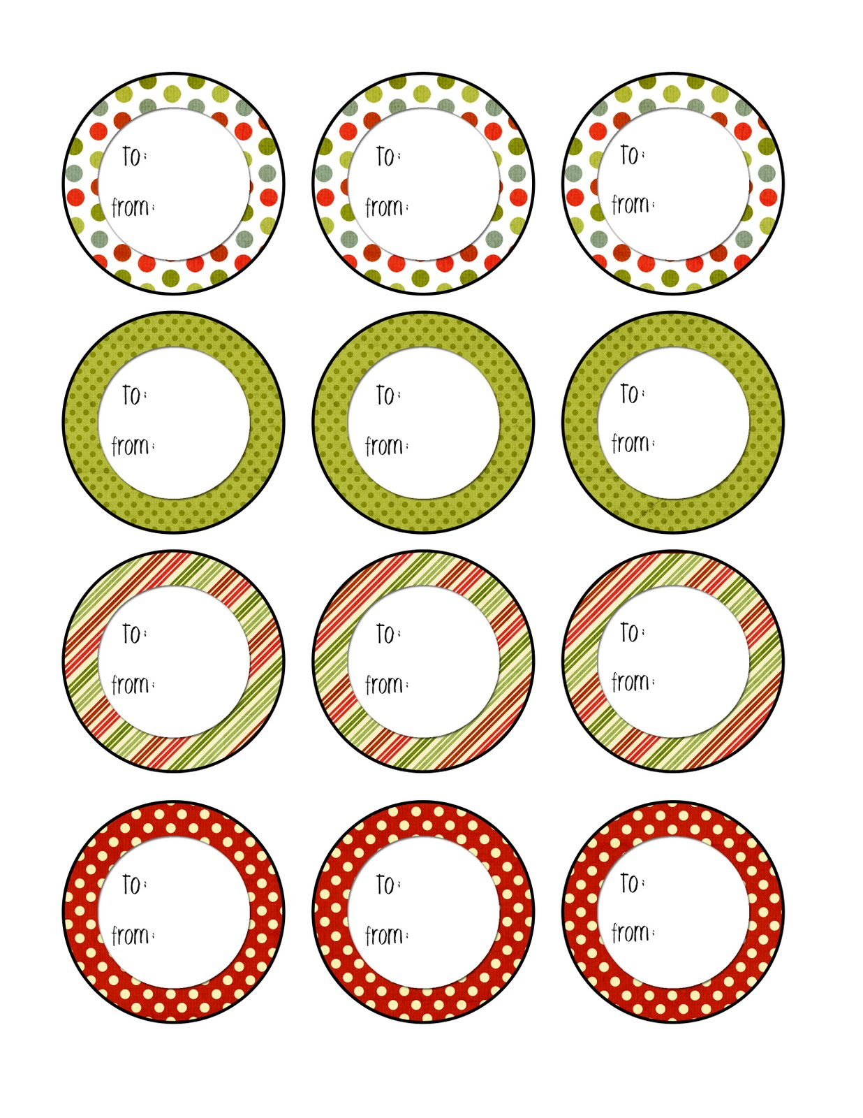 Crafty image throughout circle printable labels
