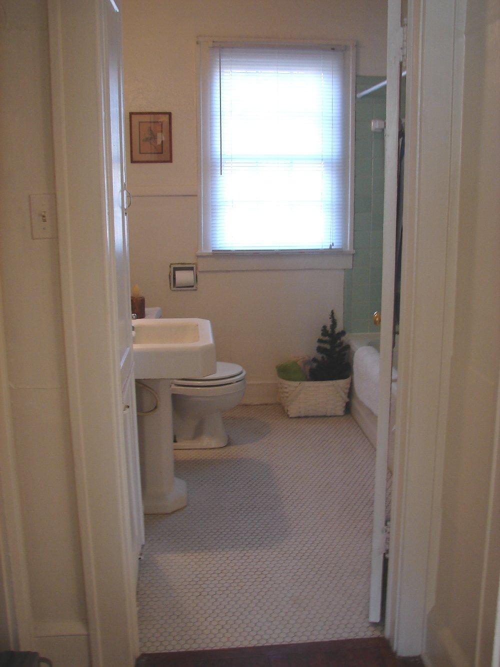 Junk Exchange bathed in light bathroom redo