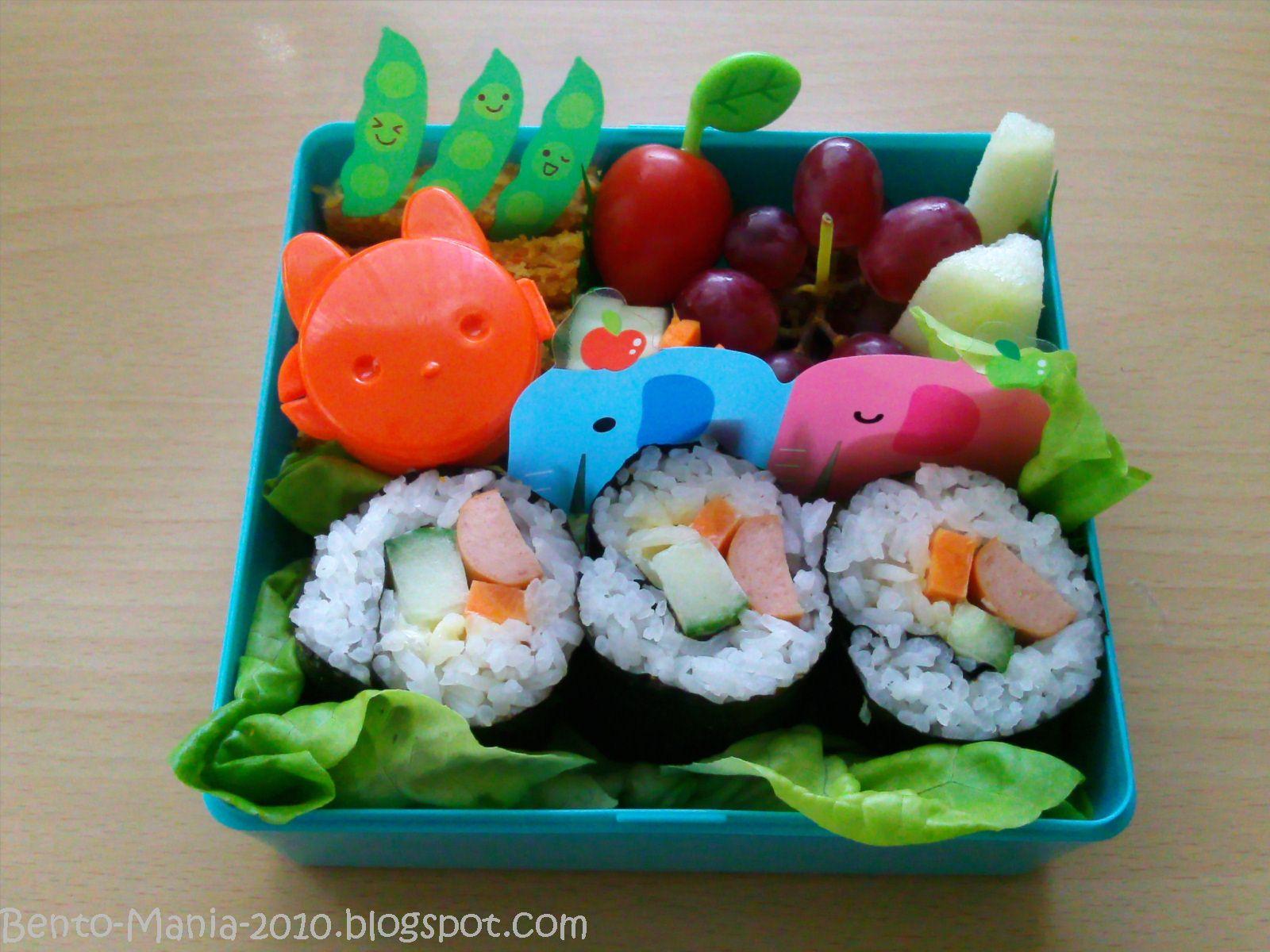 bento mania verr ckt nach der japanischen lunch box bento sushi rollen f r kinder mit. Black Bedroom Furniture Sets. Home Design Ideas