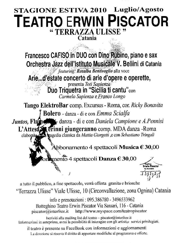 Il Corriere Di Catania Stagione Estiva 2010 Teatro Erwin