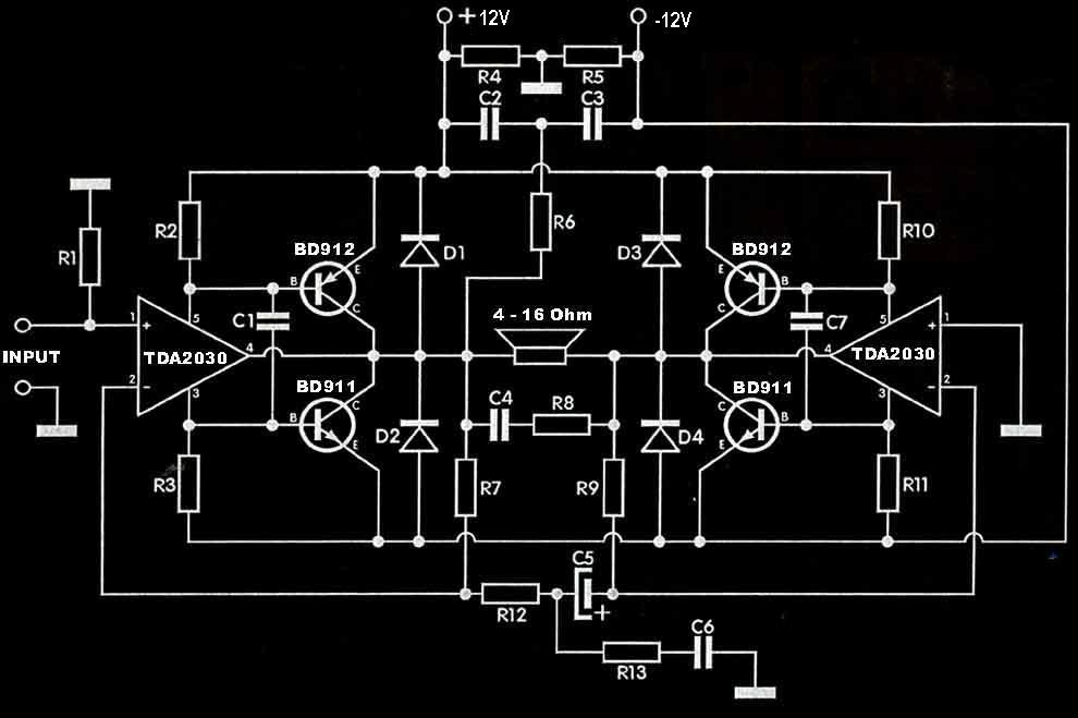 Tda2030 Subwoofer Amplifier Circuit Top Circuits