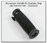 CP1104F: Aluminum Handle and Cushion Grip with Umbrella Hole (10 Degree Angled) - Assembled View